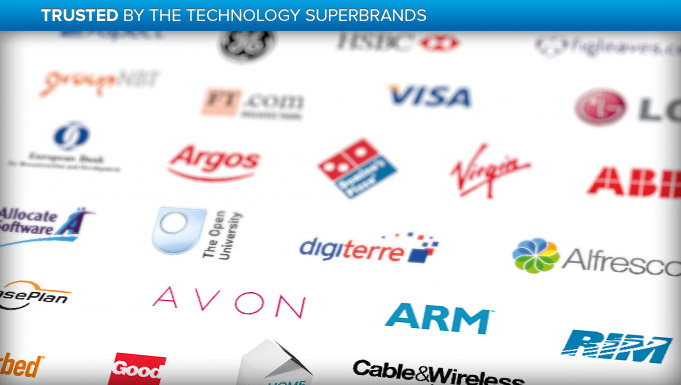 Provide Recruitment in Milton Keynes is trusted by the technology superbrands shown here